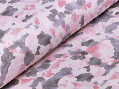 Interlock Sanetta - Camouflage - rosa