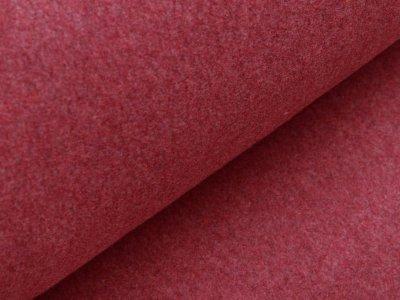 Baumwollfleece Organic Cotton - meliert beere