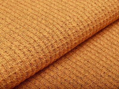 Strickstoff Baumwolle - meliert ocker