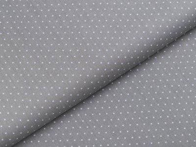 Webware Popeline Baumwolle - mini Punkte - grau