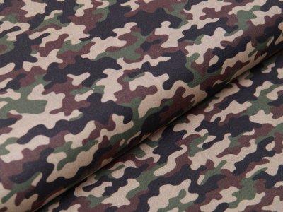 Webware Perkal-Baumwolle Digitaldruck - Camouflage - grün