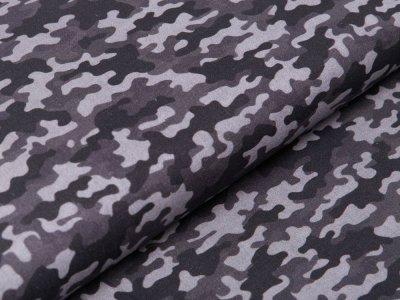 Webware Perkal-Baumwolle Digitaldruck - Camouflage - grau