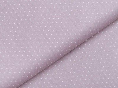 Webware Popeline Baumwolle - mini Punkte - helles grau