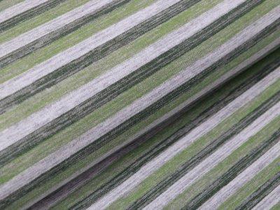 Leicht angerauter Sweat - Streifen - schraffiert grau