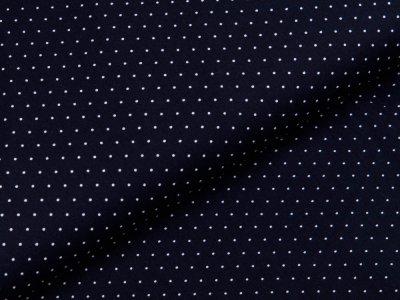 Webware Popeline Baumwolle - mini Punkte - nachtblau