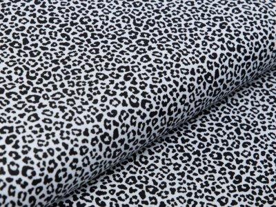 Webware Popeline Baumwolle - Animalprint Loepard - weiß