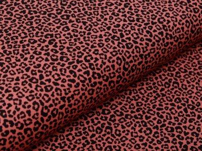 Webware Popeline Baumwolle - Animalprint Loepard - terrakotta