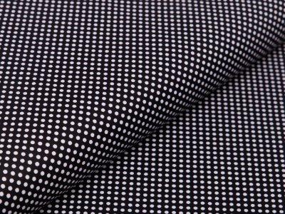 Webware Baumwolle - mini Punkte - schwarz