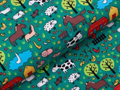 Jersey - Tiere auf dem Bauernhof - grün