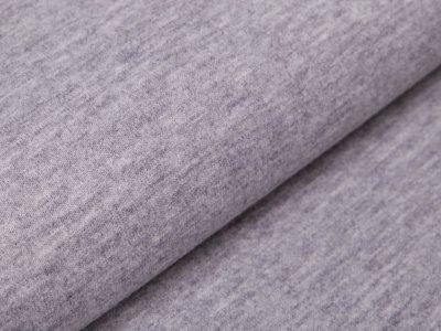 Tweed Wolloptik - uni grau