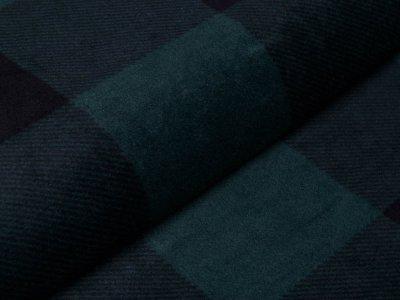 Polarfleece mit Fellabseite - Karos - schwarz/grün