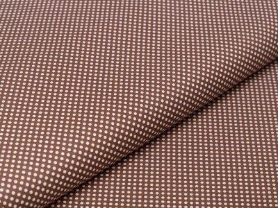 Webware Baumwolle - mini Punkte - braun