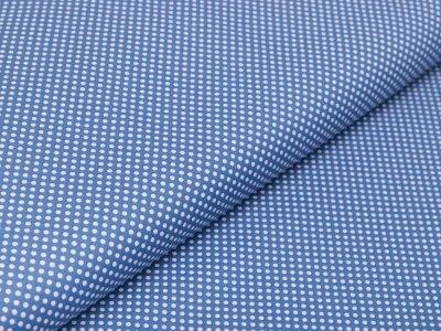 Webware Baumwolle - mini Punkte - blau