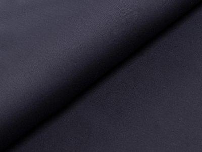 Elastischer Hosen-Jacken-Stoff Webware Köper - uni schwarz