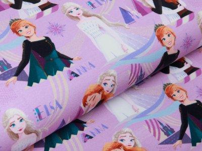 Sweat French Terry Disney-Frozen - Anna und Elsa - lavendel