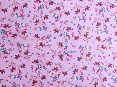 Webware Popeline Baumwolle Organic Cotton - Blumen - flieder