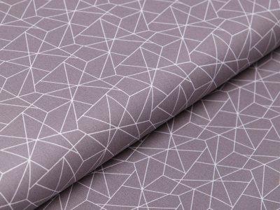 Webware Baumwolle - geometrisches Muster - grau