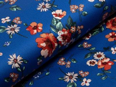 Webware - Blumenwiese - royalblau