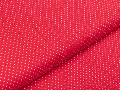 Webware Baumwolle - Punkte - rot