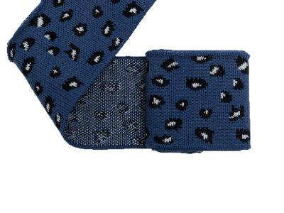 Elastisches Jacquard Bündchen - Leopard - jeans