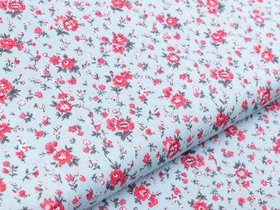 Webware Baumwolle - kleine Blumen - altblau