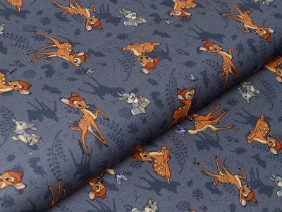Webware Baumwolle Digitaldruck Disney Bambi - Bambi und Klopfer - grau