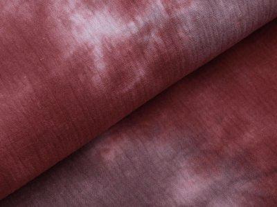 Musselin Baumwolle Double Gauze Snoozy Tie Dye - Batikstyle - altrosa