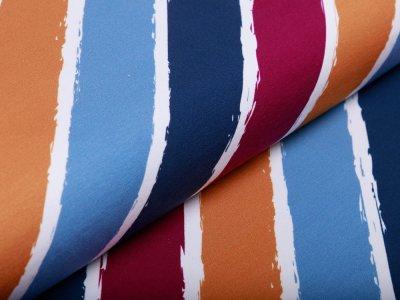Sweat French Terry Swafing Diagonally by Lycklig Design - diagonale Streifen - weiß/beere
