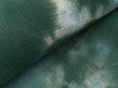 Musselin Baumwolle Double Gauze Snoozy Tie Dye - Batikstyle - grün
