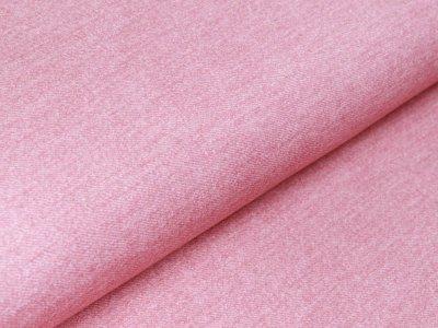 Sweat French Terry Digitaldruck in Jeansoptik - rosa