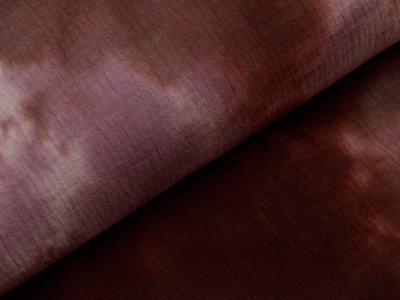 Musselin Baumwolle Double Gauze Snoozy Tie Dye - Batikstyle - choco