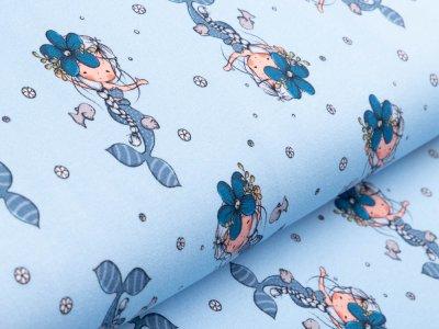 Sweat French Terry - Meerjungfrauen - helles blau