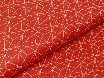 Webware Baumwolle - geometrisches Muster - terrakotta
