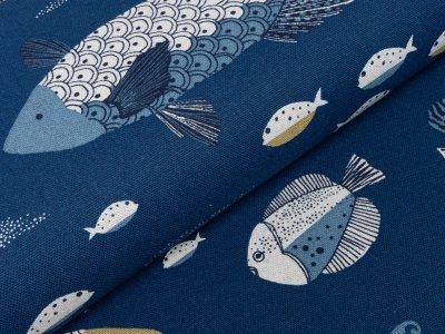 Canvas - gezeichnete Fische - marine