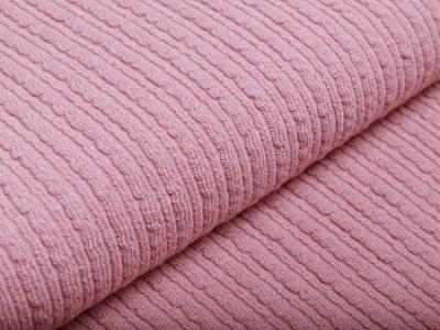 Wollstoff - Kettenmuster - rosa