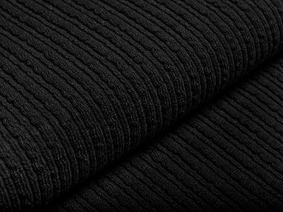Wollstoff - Kettenmuster - schwarz
