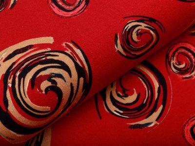 Jersey - bedruckte Formen - rot