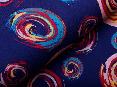 Jersey - bedruckte Formen - blau