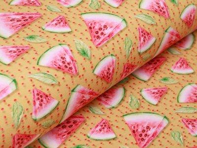 Jersey Digitalprint Stenzo - Melonenstücke auf Punkten - ocker