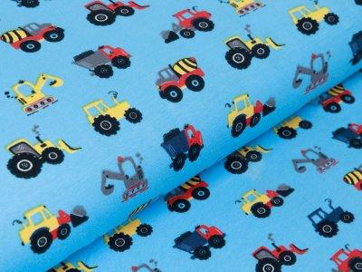 Jersey - verschiedene Baufahrzeuge - blau
