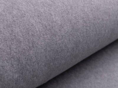 Fleece gebürstet - meliert helles grau