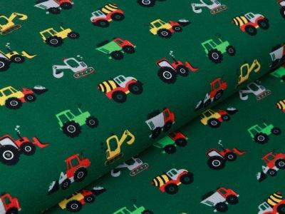 Jersey - verschiedene Baufahrzeuge - grasgrün