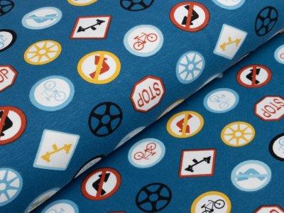 Jersey - verschiedene Verkehrszeichen - blau