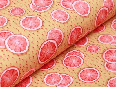 Jersey Digitalprint Stenzo - Orangenscheiben auf Punkten - ocker