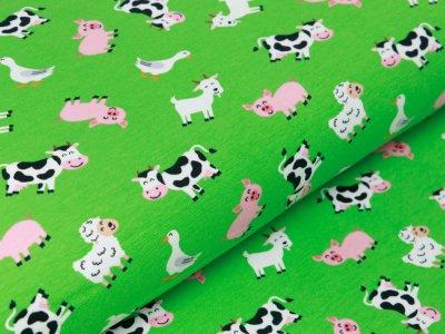 Jersey - verschiedene Tiere vom Bauernhof - grün