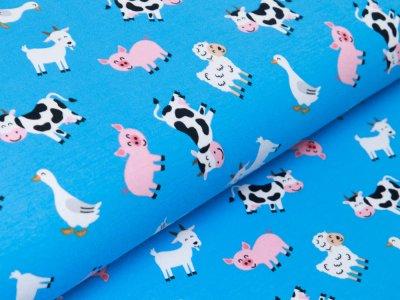 Jersey - verschiedene Tiere vom Bauernhof - blau