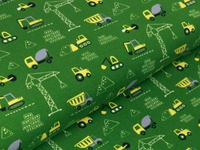 Jersey - verschiedene Baufahrzeuge und Baukräne - grün