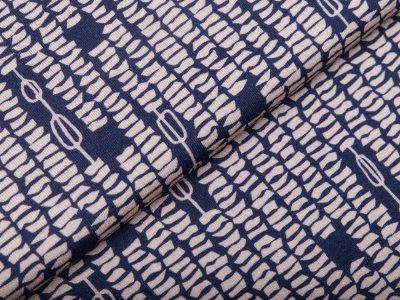 Viskose Jersey Avalana - gemustert - blau