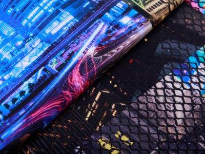 Jersey Avalana Digitaldruck - Skyline - blau