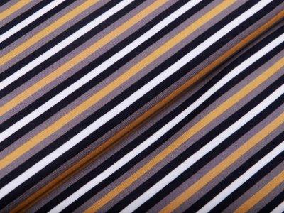 Jersey Avalana - Streifen - grau / ocker